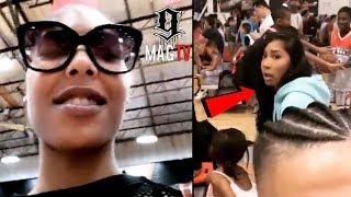 "Moniece Pulls Up On ""BD"" Lil Fizz & Girlfriend Apryl At Son's B-Ball Game!"