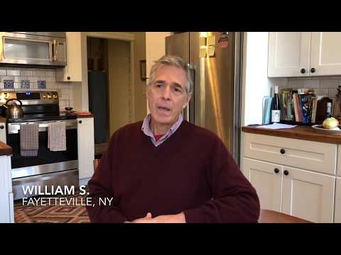 William S. of Fayetteville, NY discusses his geothermal system installed by Halco. William's system is fairly complex as it needs to accommodate a nearly 200-year-old home. The system is comprised of 4 heat pumps: one for the adjoining apartment, one for the bottom floor of his home, one for the top floor, and a fourth for the hot water system. 