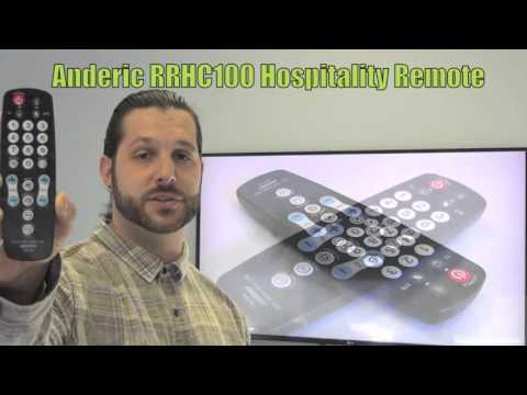ANDERIC RRHC100 Membrane Hospitality TV 1-Device Universal Remote Control