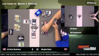 2015 Magic World Championship Round 4 (Modern): Steve Rubin vs. Owen Turtenwald