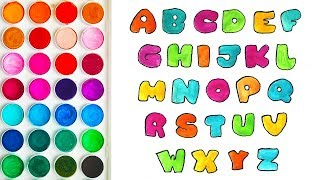 Coloring with Alphabet for Babies, Funny Videos for Child