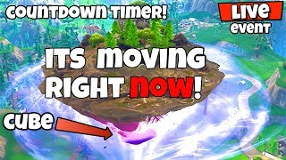 FORTNITE FLOATING ISLAND EVENT! ITS MOVING NOW! RIP TILITED TOWERS?! - FORTNITE EVENT