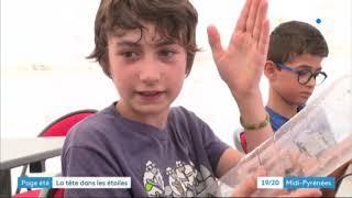 Reportage de France 3 au Planétarium de Montredon-Labessonnié lors des nuits des étoiles 2020