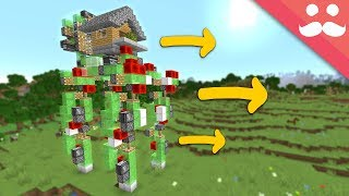 I Made A Walking House In Minecraft 1.14