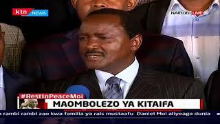 Kalonzo Musyoka na baadhi ya viongozi wamuomboleza mzee Moi katika bustani ya Kabarnet
