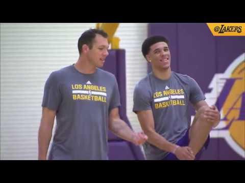 Lonzo Ball's Lakers Workout