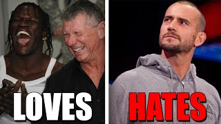 5 WWE Wrestlers Vince McMahon HATES (Enemies) & 7 He's BEST Friends With! - Wrestlelamia