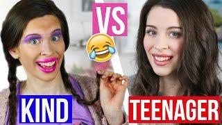 KIND vs TEENAGER: MAKE UP-ROUTINE! FAIL SCHMINKE FRÜHER vs HEUTE! | Vorstellung & Realität