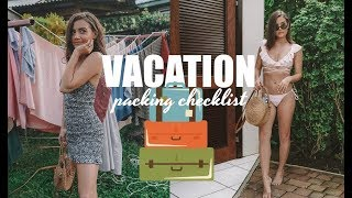 TROPICAL VACATION CHECKLIST | My Outfits In St. Lucia