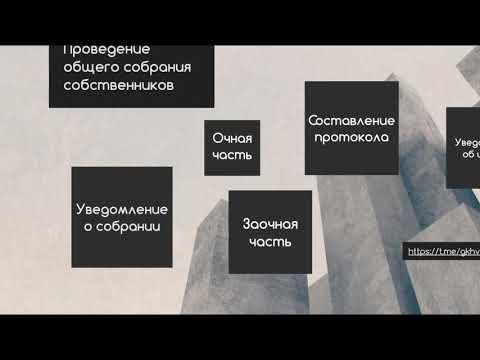Инструкция о проведении общего собрания собрания собственников в очно-заочной форме 2019 - 2020