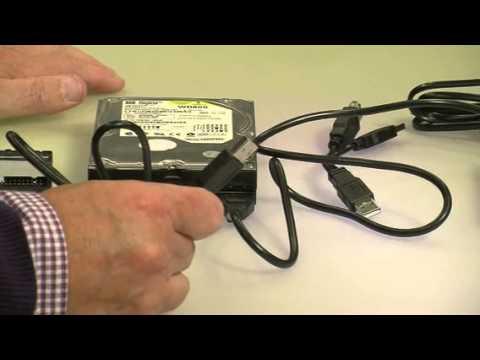 """c-enter Adapter IDE auf USB2.0 für 2,5""""-/3,5""""-Festplatten + Netzteil"""