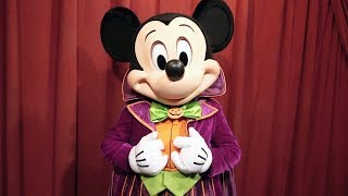 We Meet Talking Mickey Mouse (in Costume) At Mickeys Not So Scary Halloween Party 2017 - New Look