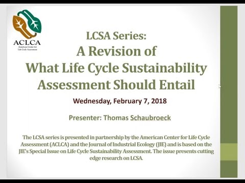 LCSA Series: A Revision of What Life Cycle Sustainability Assessment Should Entail