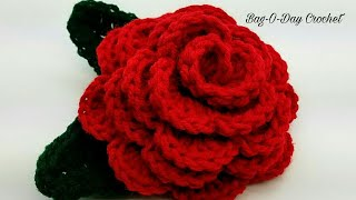 How To Crochet - 3D ROSE FLOWER | Forever Love Rose | BAGODAY CROCHET Tutorial #447