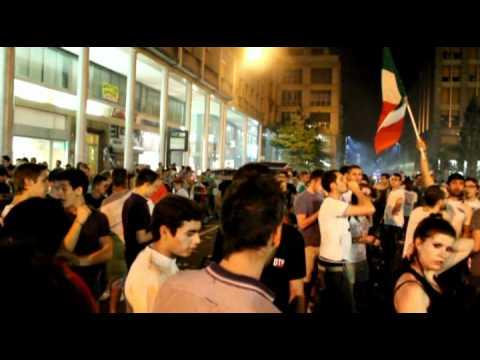 Grande festa a Busto per l'Italia