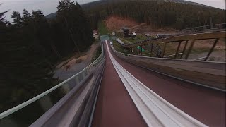 Riding Ski jump arena with FPV Drone!!