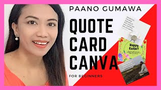 How to Make Quote Cards on Canva for Facebook Engagement Post | Easy 1-3 Steps