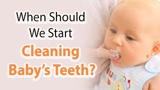 Dental advice on brushing baby's teeth  cleaning Baby's Teeth