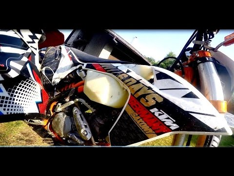 KTM EXC 450 six days -Team Leader has new bike - GoPro 4-