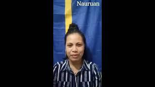Nauruan Language Lesson with Amanda Rose Bagadouwe