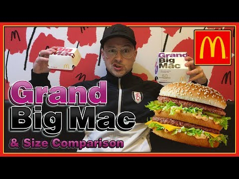McDonald's Grand Big Mac UK Review & Size Comparison
