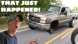 WE ALMOST DIED! BRAND NEW WHEELS FALL OFF
