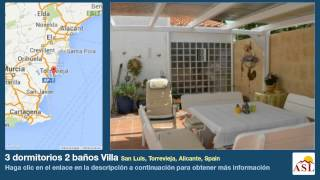 preview picture of video '3 dormitorios 2 baños Villa se Vende en San Luis, Torrevieja, Alicante, Spain'