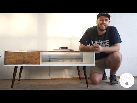 Mid Century Modern Coffee Table DIY | Modern Builds | EP. 10