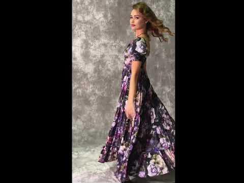 La Fleur Nocturne Maxi Dress