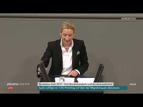 Генералдебатте им Бандестаг: Реде вон Алике Веидел ам 21.11.2018