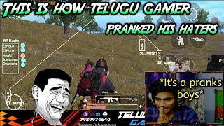 Telugu gamer pranks his haters by fake esp hack | read description for more info | abiMANyU YT