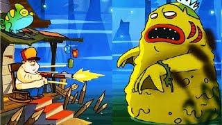 БОЛОТНАЯ Атака #11  БОЙ С БОССОМ Игра для детей на телефоне Swamp Attack   #Мобильные игры