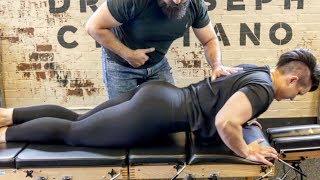*FEMALE BODYBUILDER* gets her Back CRACKED!!
