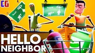 СТРАХИ Привет Сосед СУПЕРМАРКЕТ С МАНЕКЕНАМИ Мультяшный хоррор Игра Hello Neighbor АКТ 3
