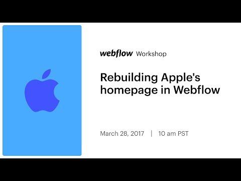 Rebuilding Apple's homepage in Webflow