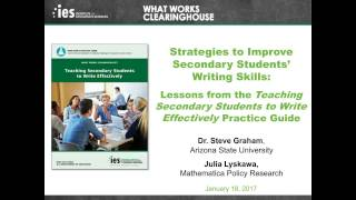 Strategies to Improve Secondary Students' Writing Skills: Lessons from a WWC Practice Guide