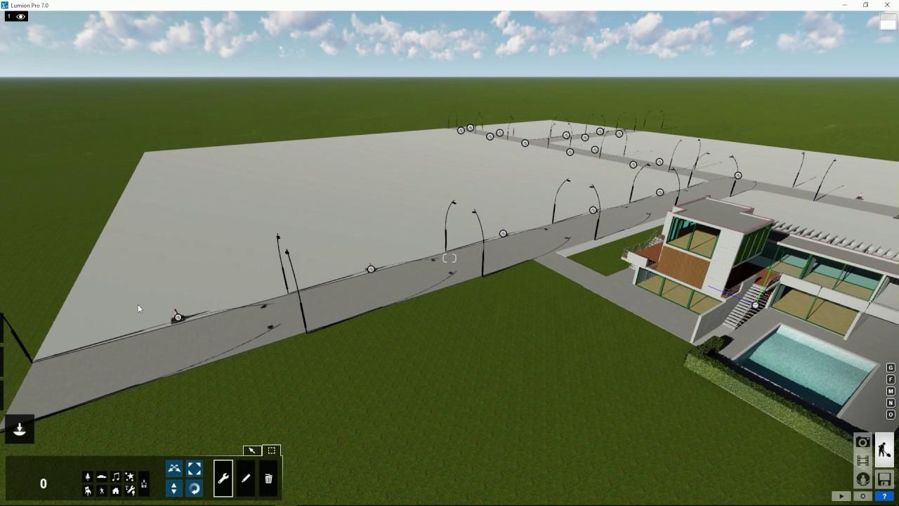 編集モード:ライブラリで選択したオブジェクトの交換(Lumion7 series)