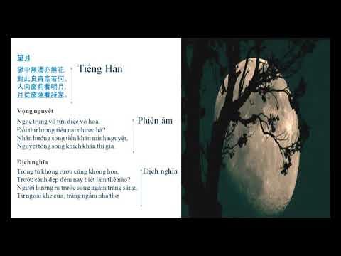Ngữ văn 8: Ngắm trăng 2