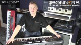 Roland EA7 Keyboard UK Demo Part 1  Overview & Sounds