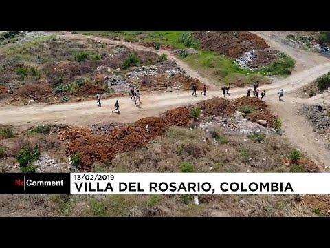 العرب اليوم - شاهد: فنزويليون يجتازون طرقا وعرة للوصول إلى كولومبيا
