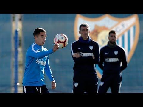 El Málaga CF entrena con una amplia presencia de canteranos