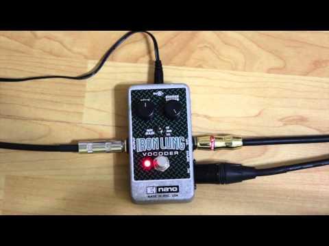 "Gear Review: Electro-Harmonix ""Iron Lung"" Vocoder Pedal"