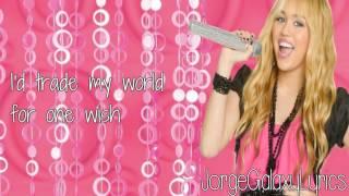 Hannah Montana- Mixed Up (Lyrics On Screen)