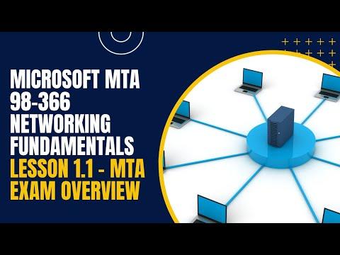 Microsoft MTA 98-366 Networking Fundamentals Lesson 1.1 - MTA ...