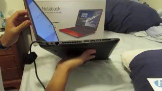 Red HP Laptop Unboxing: Flyer Red 15-f272wm