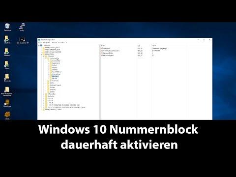 Windows 10 Nummernblock dauerhaft aktivieren