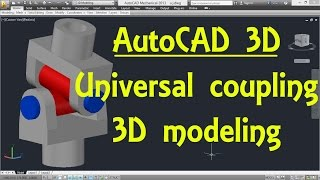 Universal Coupling ( Hooks Joint ) AutoCAD 3D Modeling Tutorial | AutoCAD 3D Modeling 19