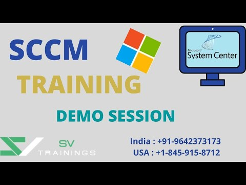 MS SCCM Online Training | Microsoft SCCM Training Demo Class ...
