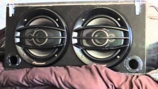DIY Boombox Prototype Bass Test Pioneer TS-A2013i (kratradio/kistradio)