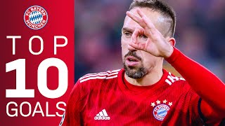 Franck Ribéry - Top 10 Goals For FC Bayern